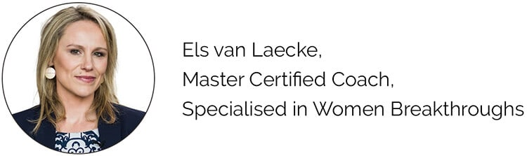 Els van Laecke, Master Certified Coach, Specialised in Women Breakthroughs